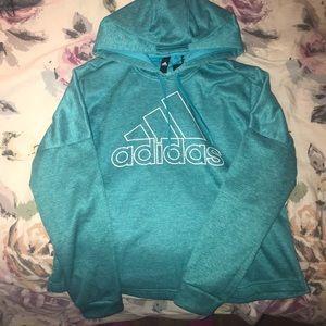 Adidas turquoise hoodie sweatshirt